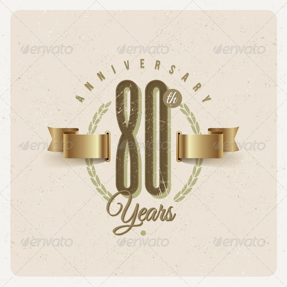 GraphicRiver Vintage Anniversary Type Emblem 8373867