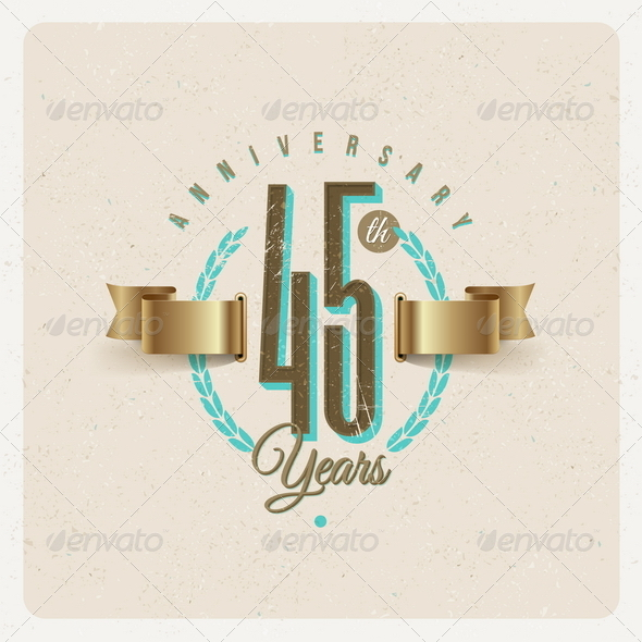 GraphicRiver Vintage Anniversary Type Emblem 8373899