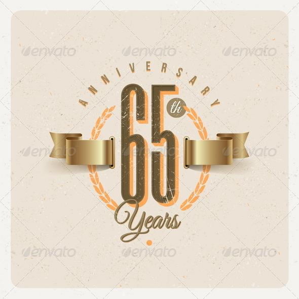 GraphicRiver Vintage Anniversary Type Emblem 8373945