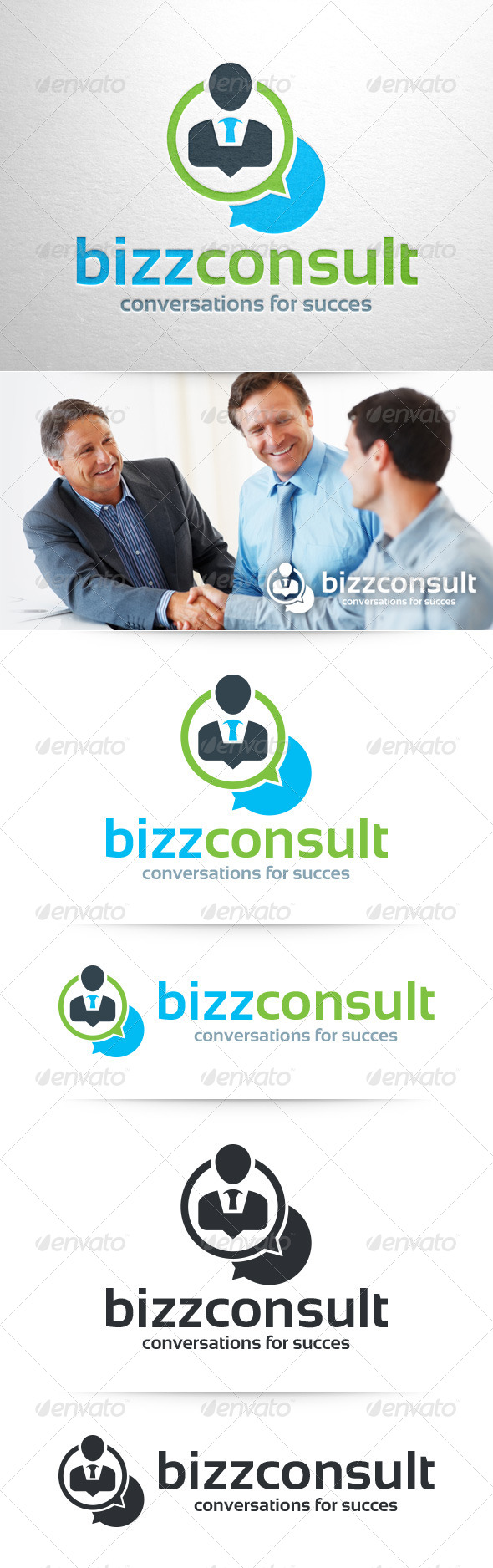 GraphicRiver Business Consult Logo Template 8373948