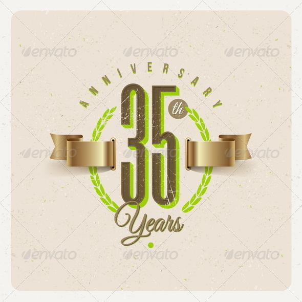 GraphicRiver Vintage Anniversary Type Emblem 8373958