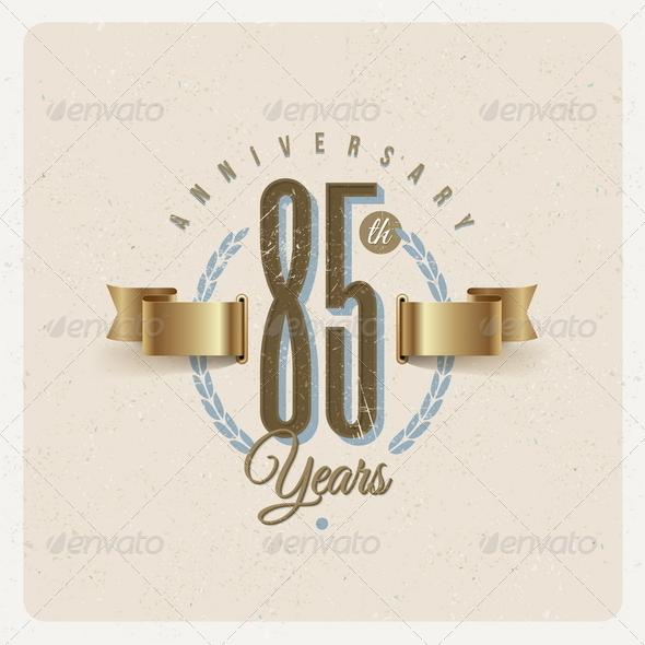 GraphicRiver Vintage Anniversary Type Emblem 8373967