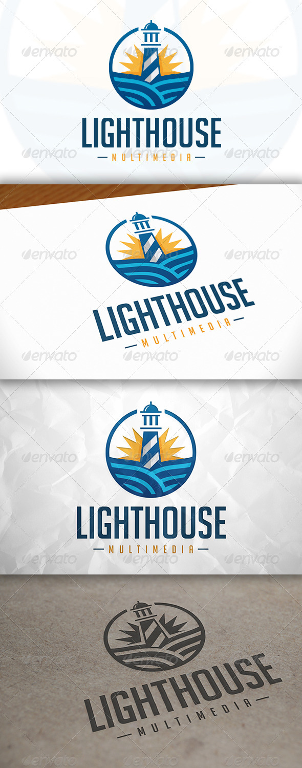 GraphicRiver Lighthouse Media Logo 8374086