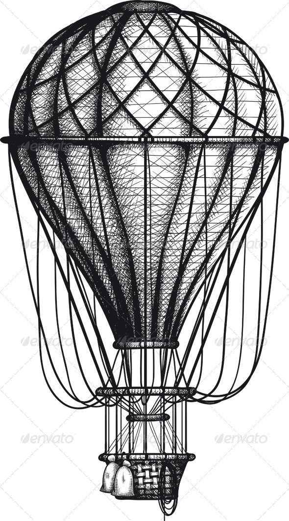 GraphicRiver Old Air Ballon 8374088