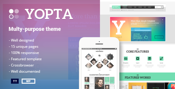 Yopta - Multi-Purpose WordPress Theme
