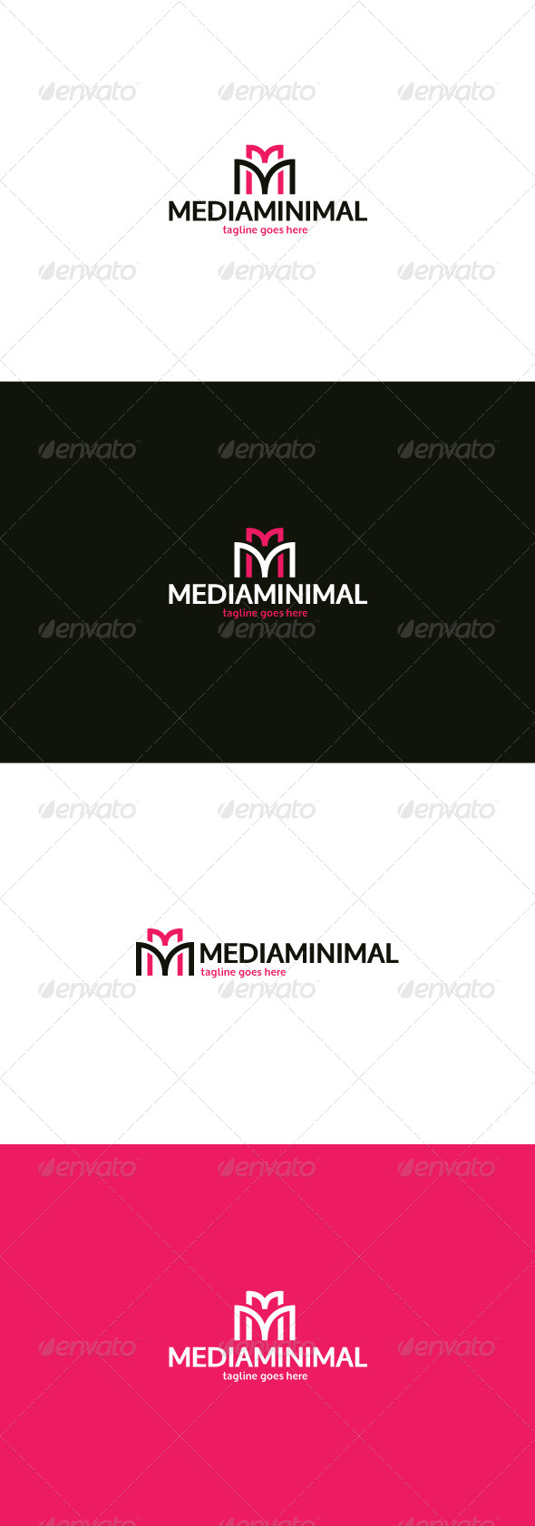 GraphicRiver Media Minimal Logo Letter M 8374107