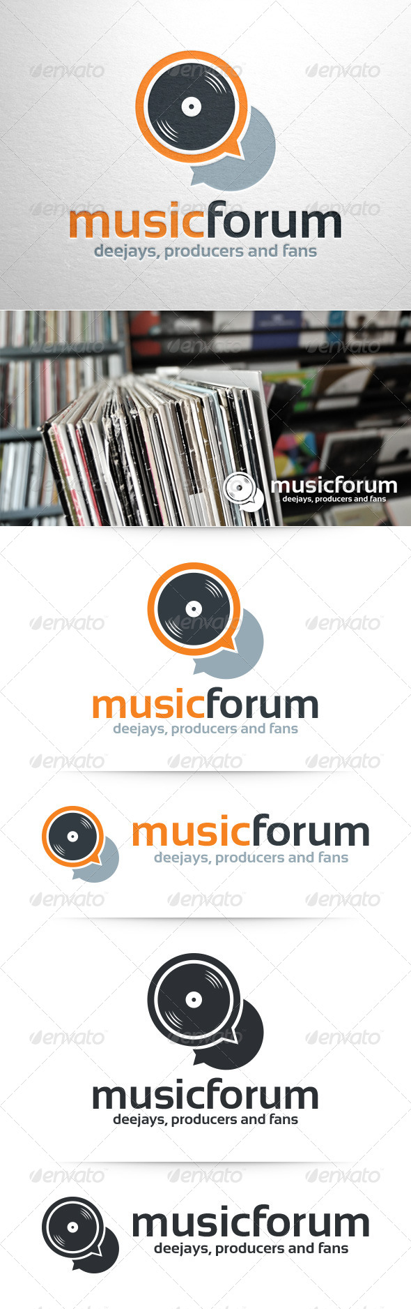 GraphicRiver Music Forum Logo Template 8374119