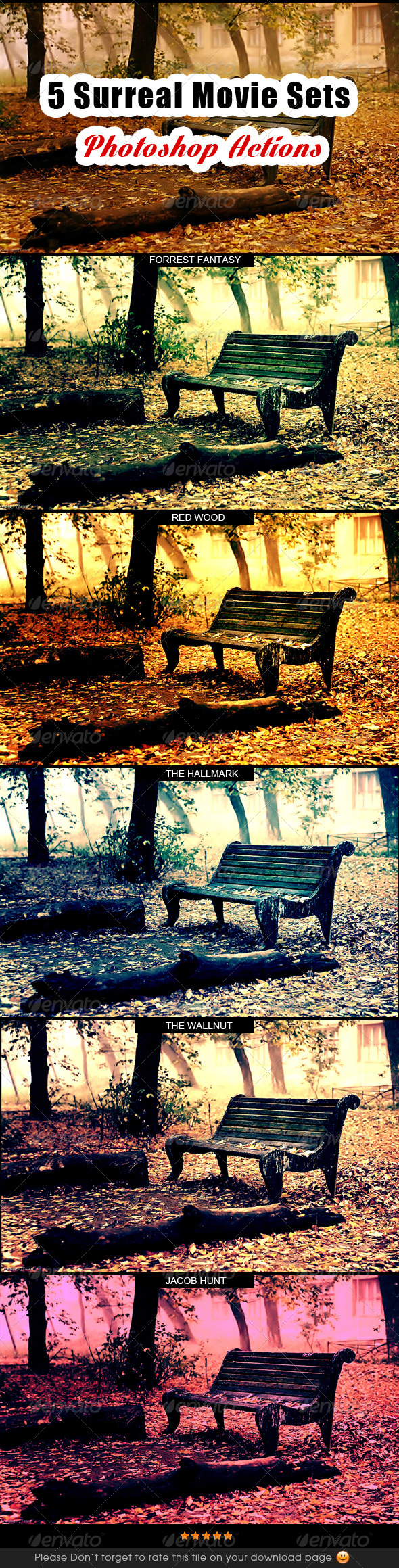 GraphicRiver Surreal Movie Sets Photoshop Action 8374130