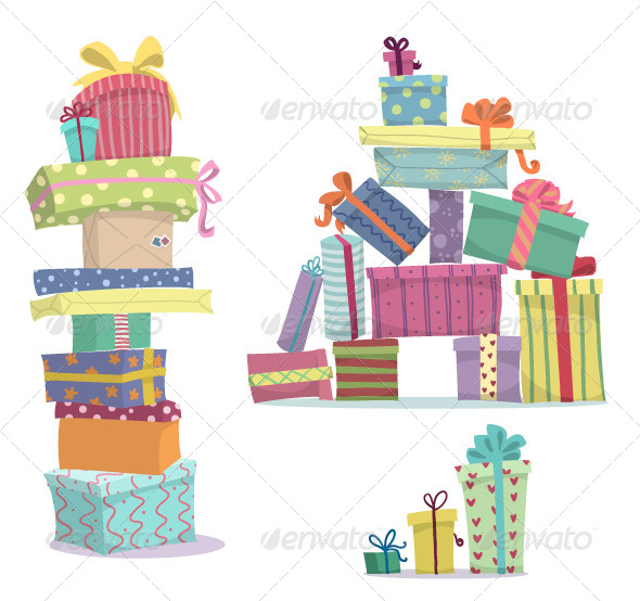 GraphicRiver Pile of Presents 8374149