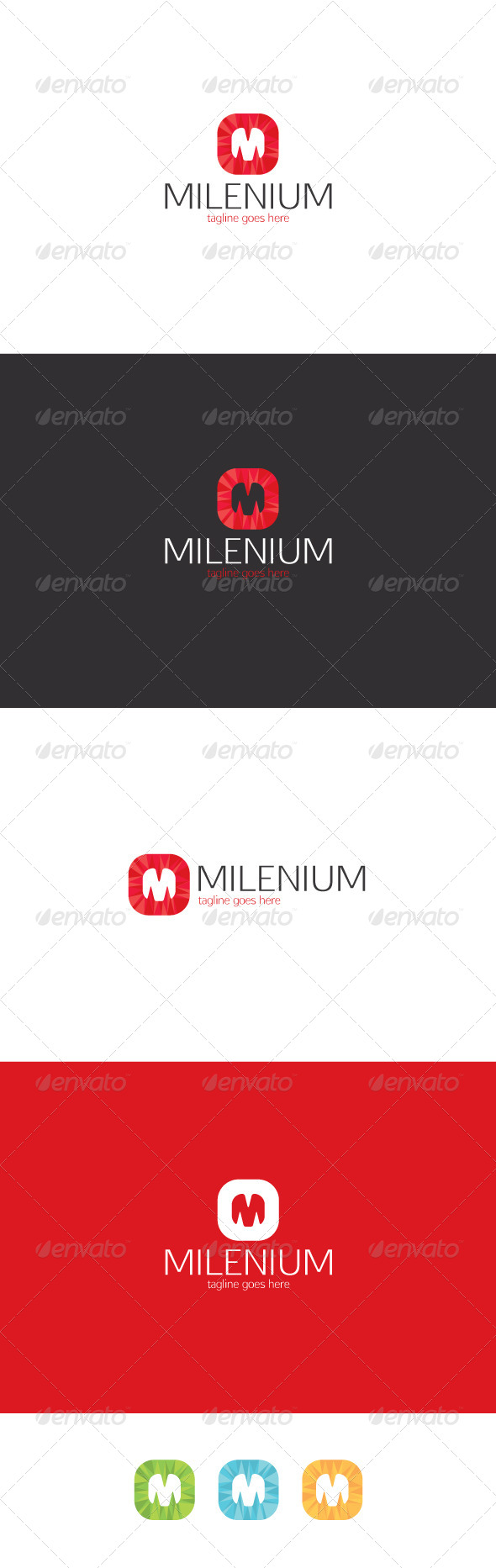 GraphicRiver Milenium Logo Letter M 8374157