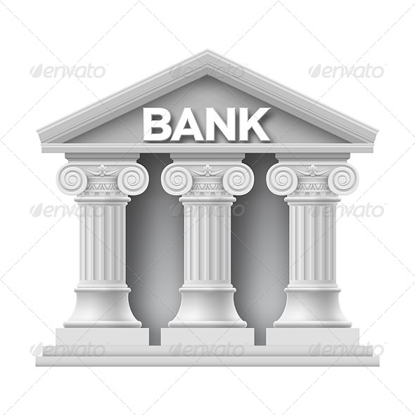 GraphicRiver Stone Building of Bank 8374217