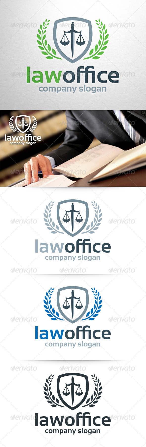 GraphicRiver Law Office Logo Template 8374221