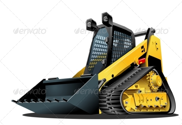 GraphicRiver Vector Cartoon Land Clearing Mulcher 8374297