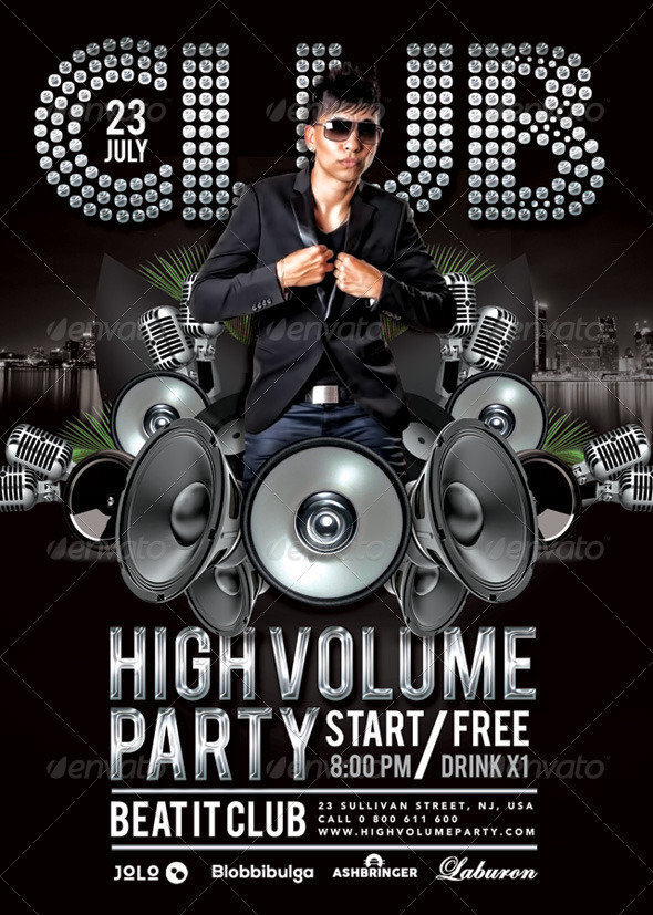GraphicRiver High Volume Party In Club 8374476