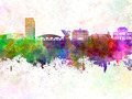 Ljubljana skyline in watercolor background - PhotoDune Item for Sale