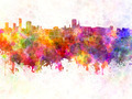 Birmingham skyline in watercolor background - PhotoDune Item for Sale