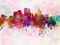 Minneapolis skyline in watercolor background - PhotoDune Item for Sale