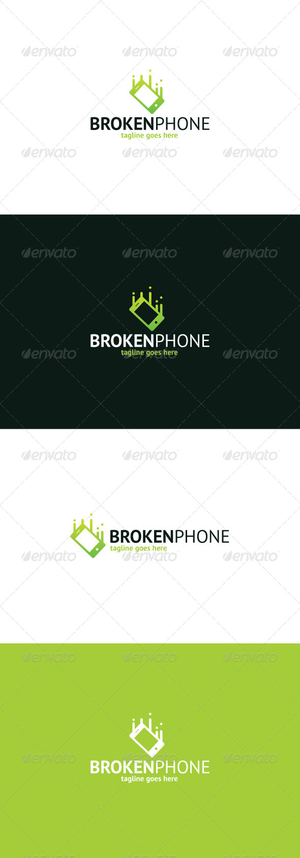 GraphicRiver Broken Phone Logo 8374529