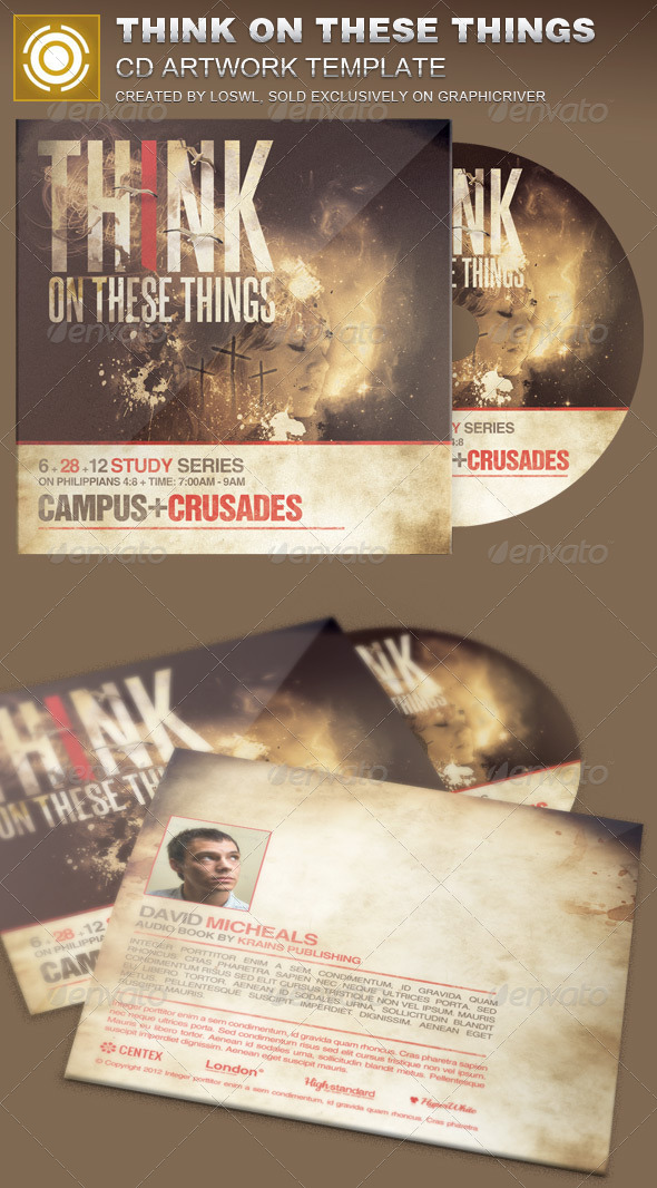 Think on These Things CD Artwork Template