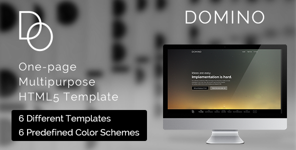 ThemeForest Domino Multipurpose One Page HTML5 Template 8322525