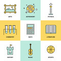 Education subjects flat icons - PhotoDune Item for Sale