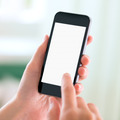 Modern smart phone in hands with blank screen - PhotoDune Item for Sale