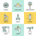 Startup key elements flat icons set - PhotoDune Item for Sale