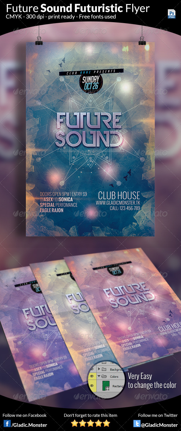 GraphicRiver Futuristic Sound Flyer 8374680