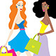 Fashion Girls Shopping - GraphicRiver Item for Sale