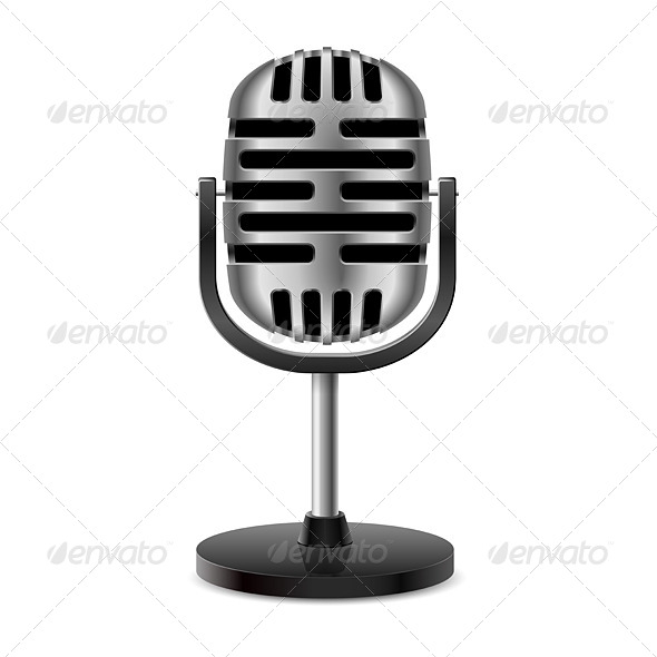 GraphicRiver Vintage Retro Microphone 8374867