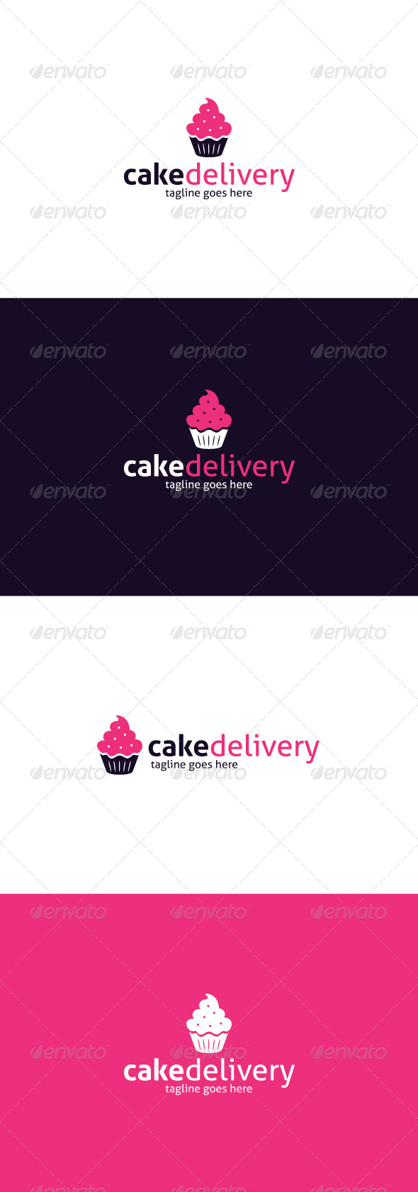 GraphicRiver Cake Delivery Logo 8374879
