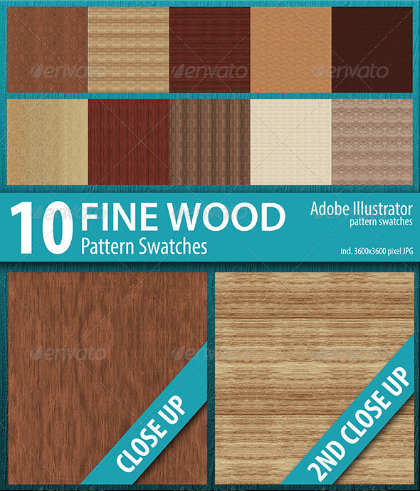 GraphicRiver 10 Fine Wood Texture Seamless Pattern Swatches 8370962