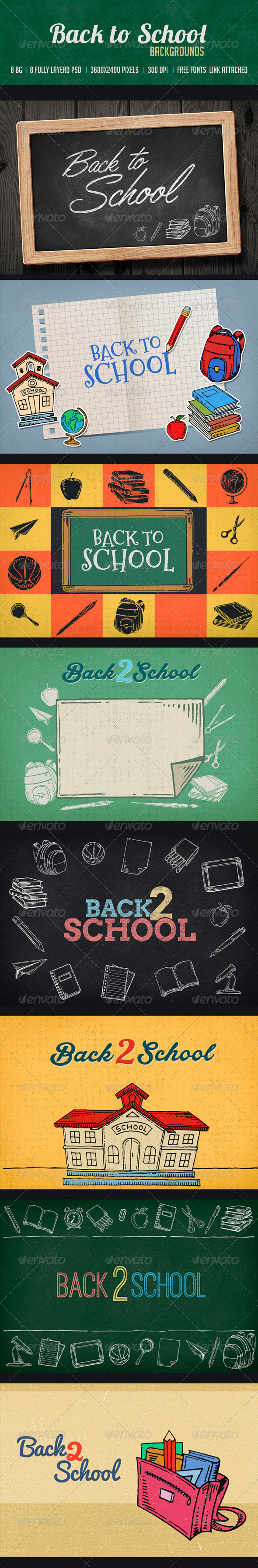 GraphicRiver Back to School 8375072