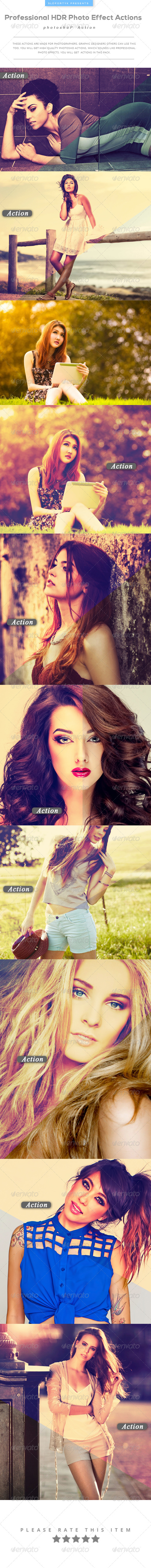 GraphicRiver Professional HDR Photo Effect Actions 8375091