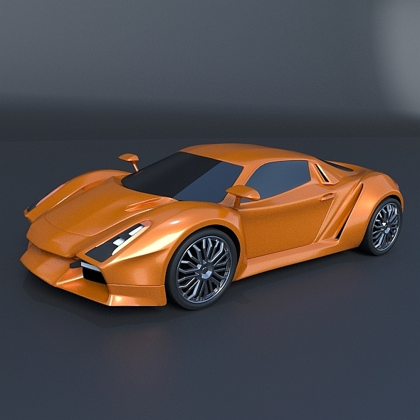 3DOcean Nexeno sports car concept 8375113