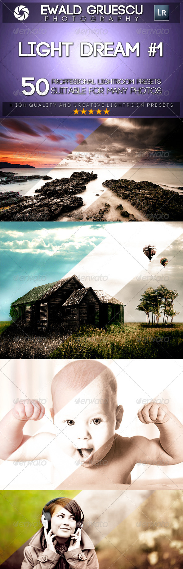 GraphicRiver Light Dream Part I Lightroom Presets 8375145