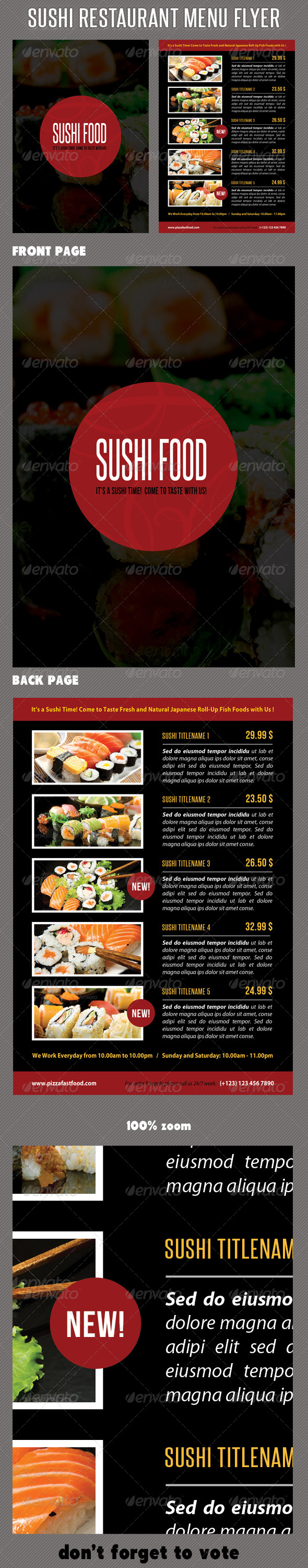 GraphicRiver Sushi Restaurant Menu Flyer V02 8375244