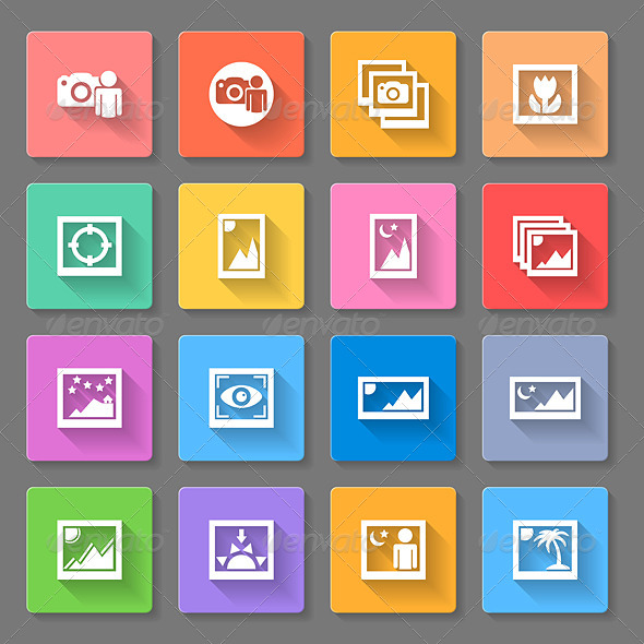 GraphicRiver Colorful Media Photo Icons 8375278
