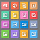 Colorful Media Photo Icons - GraphicRiver Item for Sale