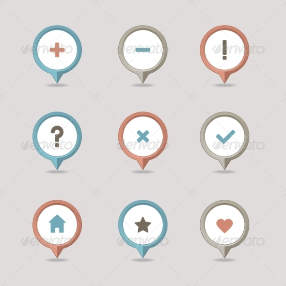GraphicRiver Mapping Pins Icon 8375569