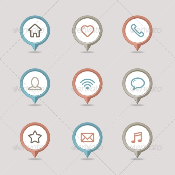 GraphicRiver Mapping Pins Icon 8375571
