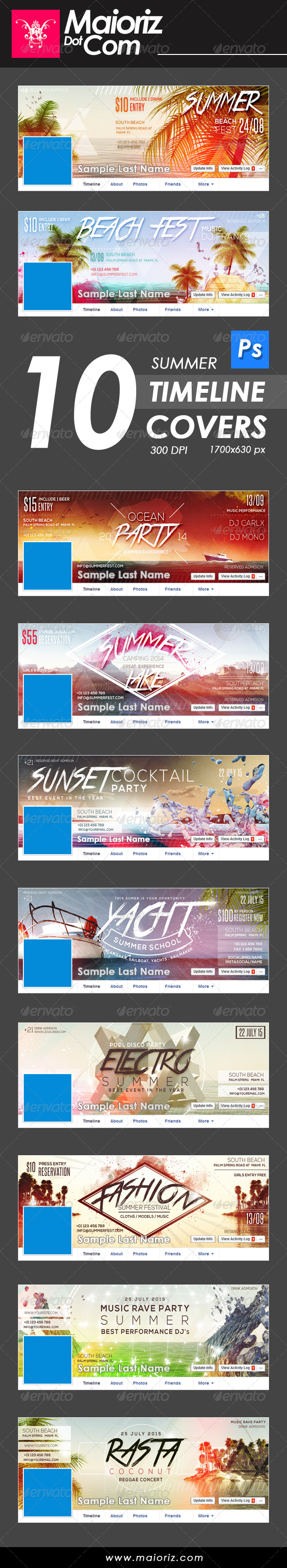 GraphicRiver Summer Time Line Covers 8375649
