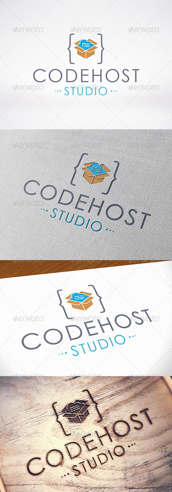 GraphicRiver Code Host Logo Template 8375676