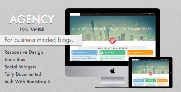 Agency Tumblr Theme for Business Blogs