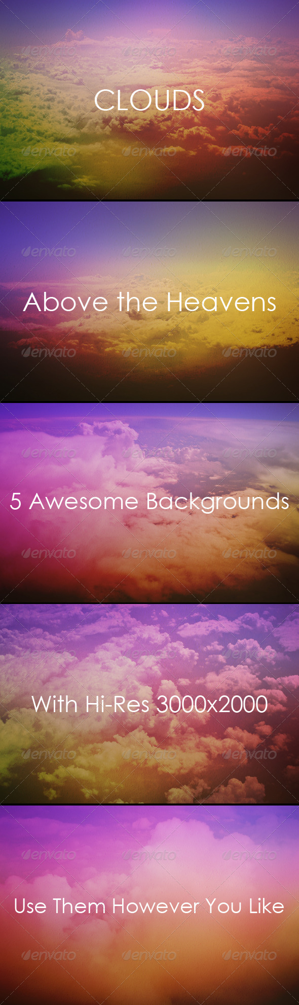 GraphicRiver Clouds Above the Sky Backgrounds 8375752