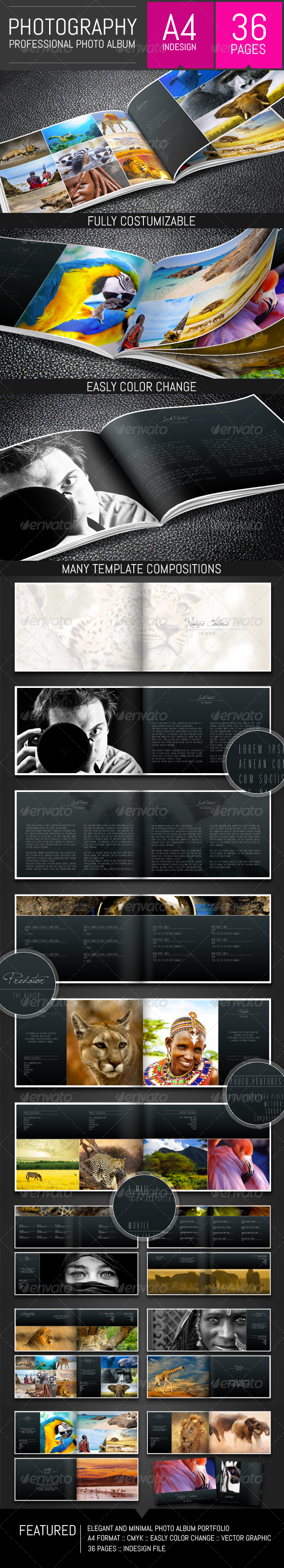 GraphicRiver Photography Album Portfolio Template 8375780