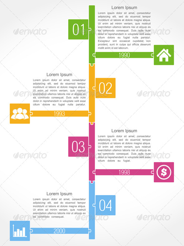 GraphicRiver Timeline Puzzle Design 8375890