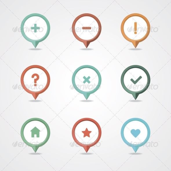 GraphicRiver Mapping Pins Icon 8375901