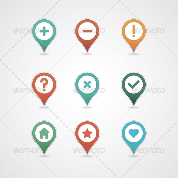 GraphicRiver Mapping Pins Icon 8375938