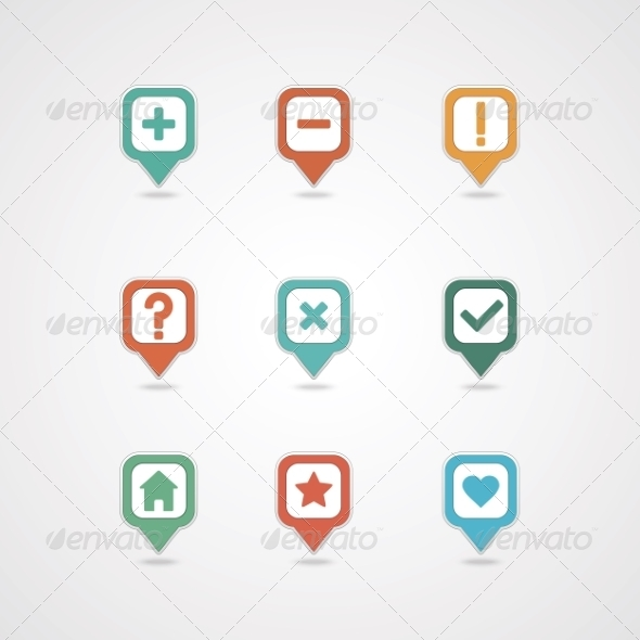 GraphicRiver Mapping Pins Icon 8375997
